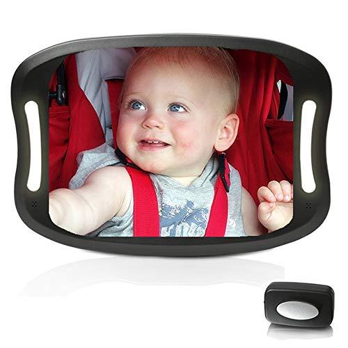 Espejo retrovisor de coche para bebés