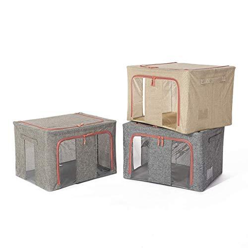 Economico y practico Bolsas de almacenamiento de ropa plegable grande, contenedores de almacenamiento de ropa de 3 piezas, organizadores de armario de tela gruesa y almacenamiento, con mango y ventana