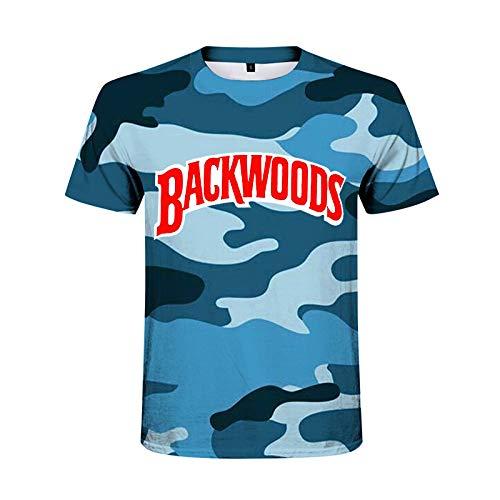 Chaleco Backwoods - Camiseta de camuflaje para hombre, transpirable, ligera, de manga corta