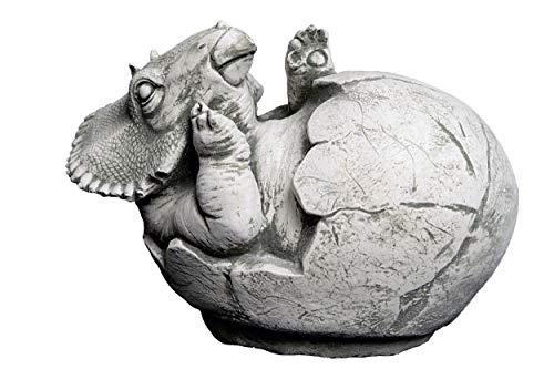 gartendekoparadies.de Lustiger Stein Dinosaurier Motiv III von III Massive Steinfigur Drachen Steinguss frostfest