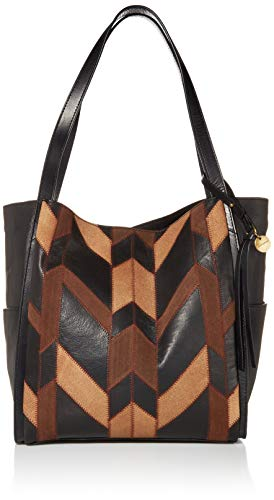 Lucky LICH Tote with Leather Patchwork, Bronze Patch/ 222