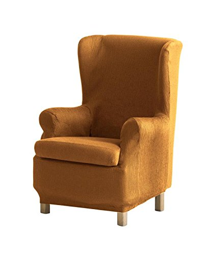 Eysa - Funda de sillón orejero elástica Ulises - Color Mostaza