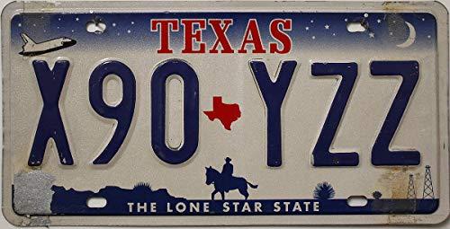 USA Nummernschild Texas // US License Plate // Metallschild Fahrzeug-Kennzeichen