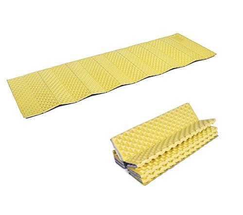 Yousiju Colchoneta for Acampar, Almohadilla for Dormir portátil, colchón for Cama de Espuma for Picnic, Equipo de Viaje for Senderismo, Manta Impermeable a Prueba de Humedad (Color : Yellow)