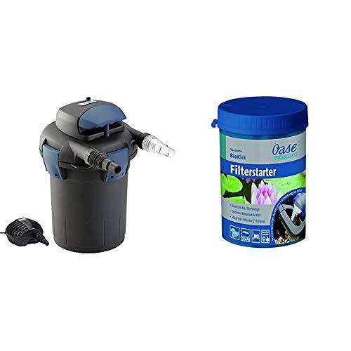 Oase 50499 BioPress Set 4000 & AquaActiv BioKick 200 ml Wasseraufbereiter, Silber