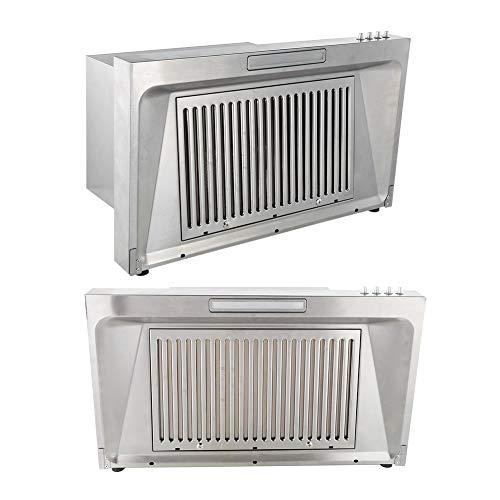 AYNEFY Kitchen Range Hood, Wall Mounted Stove Hood Vent Airflow Cooker Hood Extractor Household Kitchen Appliances(US Plug 110 V)