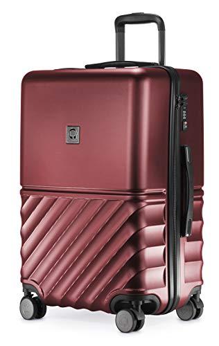HAUPTSTADTKOFFER - Boxi - Hartschalen-Koffer Koffer Trolley Rollkoffer Reisekoffer TSA, 4 Rollen, 65 cm, 70 Liter, Burgund