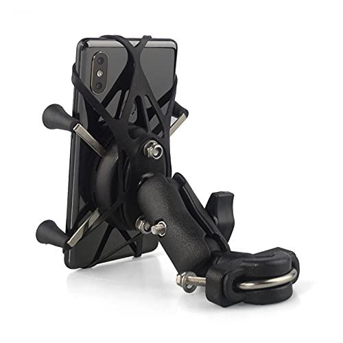 Speeding Soporte para teléfono de Motocicleta, Soporte para Teléfono De Motocicleta Riel De Montaje En Manillar para Teléfono Móvil Soporte para Teléfono Inteligente para Teléfono De 3,5-6 Pulgadas