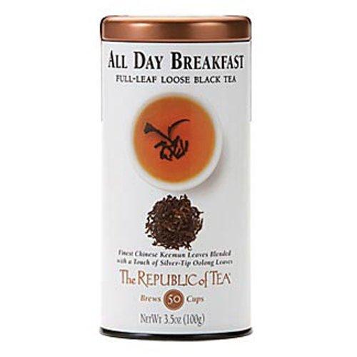 The Republic of Tea, All Day Breakfast Full-Leaf Tea, 3.5-Ounces