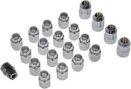 Dorman 711-641 Acorn 2-Pc Wheel Lock Set M14-1.50 for Select Models - Chrome, 20 Pack