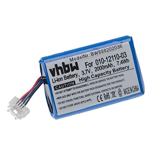 vhbw Akku kompatibel mit Garmin Zumo 590, 595, 590LM, 595LM GPS Navigation Navi (2000mAh, 3,7V, Li-Ion)