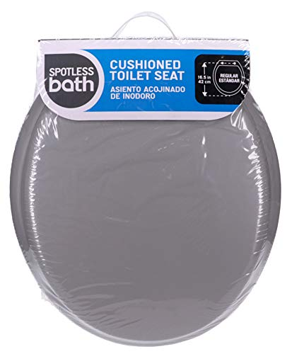 Ginsey Standard Soft Toilet Seat with Plastic Hinges, Size: Pack of 1, Grey