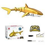 2.4 G - Tiburón teledirigido con control remoto (seguridad USB, recargable, barco de peche teledirigido, tiburón, juguete para bañera de agua, piscina, mar