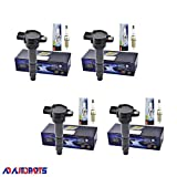 Set of 4 Herko Ignition Coils + 4 Platinum TT PKH20TT Spark Plugs for Mitsubishi Eclipse, Lancer And Other Vehicles 2.4L L4 2004-2012, Compatible With B097, 4506