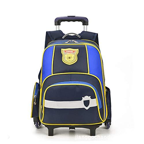 ZZLHHD Wheeled Trolley Backpack,Fashion trolley bag, detachable two-purpose backpack-black,Kids Trolley Backpack