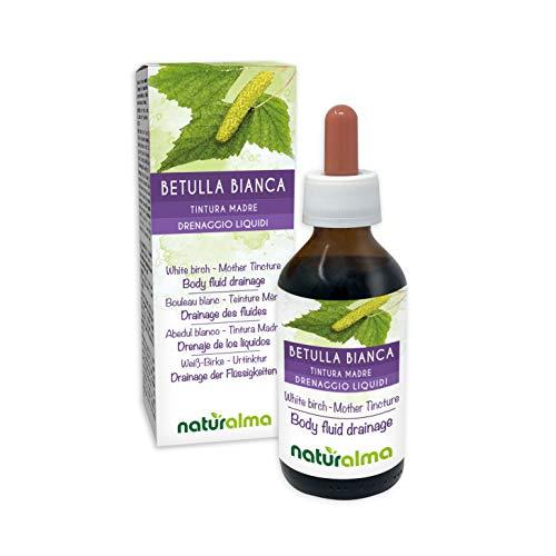 BETULLA BIANCA (Betula pendula, alba o verrucosa) foglie Tintura Madre analcoolica NATURALMA | Estratto liquido gocce 100 ml | Integratore alimentare | Vegano
