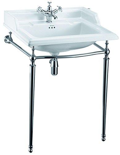 Burlington Waschbeckenständer aus Chrom, 65 cm