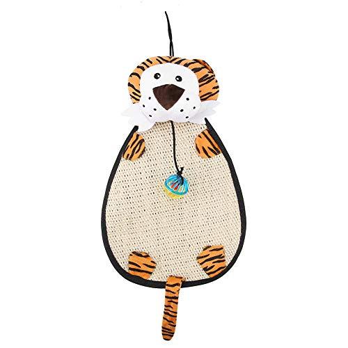 Huairdum Scratching Post Mat, Kitten Scratching Mat, Cartoon Praktisch für Katzenhunde(Tiger)