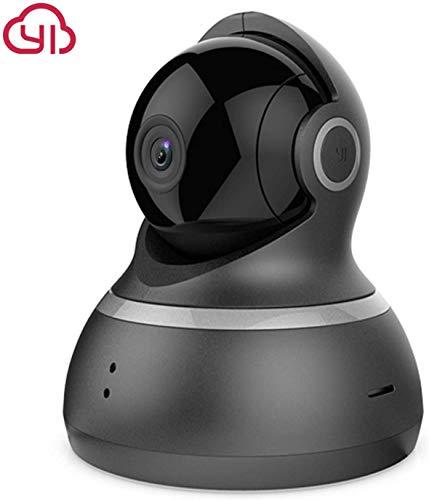 YI Camara Vigilancia 1080p, Camara IP, Camara Seguridad WiFi de Interior con Rotación 360°, Detección de Movimiento, Visión Nocturna, Audio de 2 Vias y Nube con App para iOS y Android (Negro)