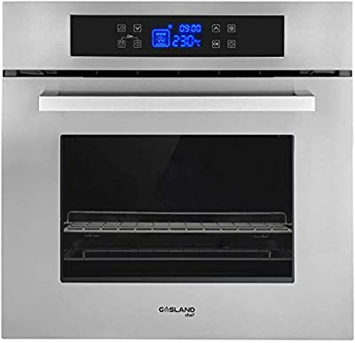"""Single Wall Oven, GASLAND Chef 24"""" Built-in Electric Ovens, 240V 3200W 2.3Cu.f 11 Cooking Functions Convection Wall Oven with Rotisserie, Digital Display, Touch Control"""