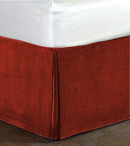 King Size Burgundy Color Luxurious Easy Soft Weekly update and Velvet Popular products Bedskirt