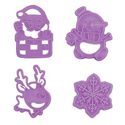 blueship Molde de galleta no fácil deformado resistente al desgaste PP Cookie Stamp excelente mano de obra materiales de grado alimenticio púrpura