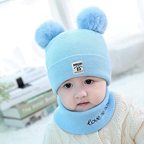 UKKO Conjunto de Gorro para niños Peluche Sombrero Bufanda De Dos Piezas Traje De Dos Piezas Sombrero De Lana De Lana para Niños Ear Protectores Niños Niños Invierno Plus Invierno-E216162