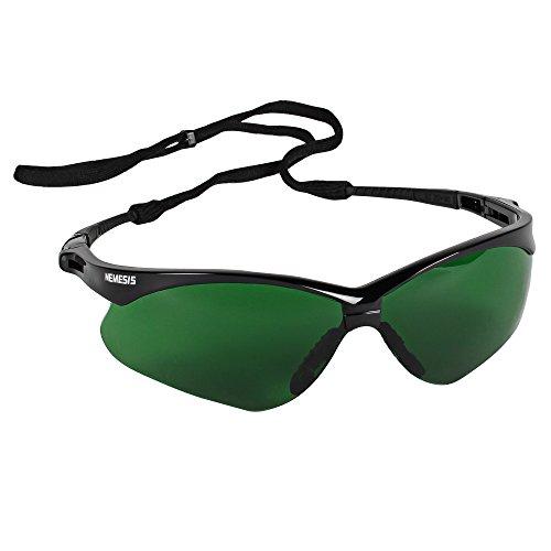 Kimberly Clark 25692 Jackson Safety V30 Nemesis - Gafas de seguridad IRUV 3.0 lentes - Verde (Pack de 12)