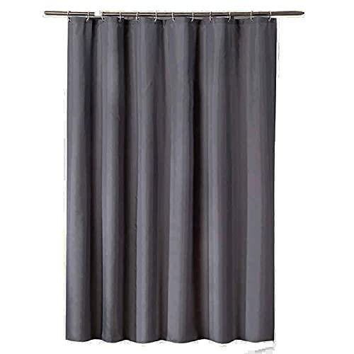 TopTree Duschvorhäng, Duschvorhang Anti-Schimmel Duschvorhang aus Polyester Wasserabweisend Shower Curtain Anti-Bakteriell mit 12 Duschvorhangringen (150x200cm,Dunkelgrau