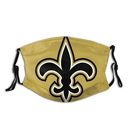 longdai New Orleans Saint MultifunktionaleKopfbedeckungfürdenAußenbereich,RunningMagic-Stirnband-Haarband,Sportfischen,Motorradfahren,Gesichtsmaske,UV-Beständigkeit,Wandern,Kletterschal,Bandana