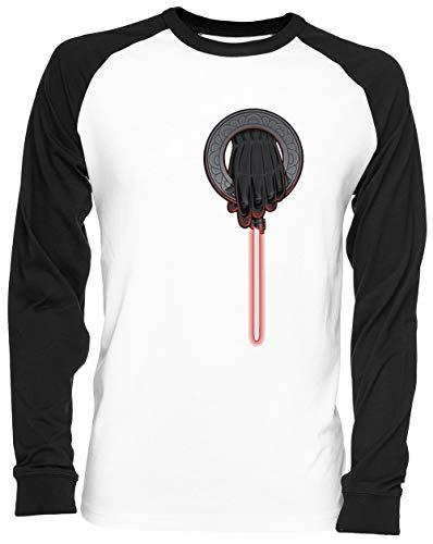 Emperadores Mano A Girl Has No Costume Blance Camiseta De Béisbol Unisex Tamaño S White Baseball tee Tshirt Unisex Size S