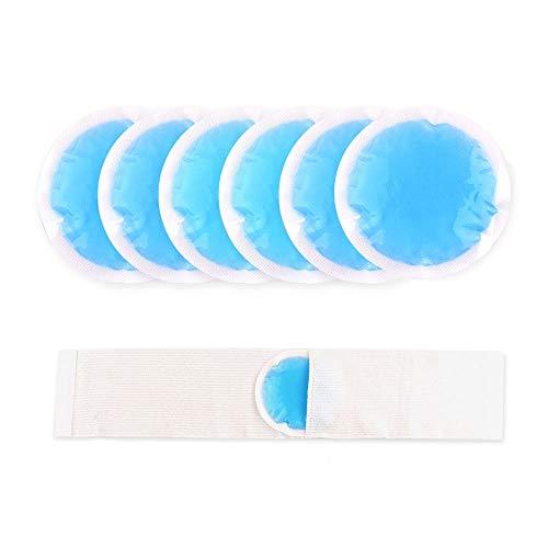 Kühlpad Gel Coolpacks Kühlkissen Kühlakku Kalt Warm Kompresse Kühlbeutel für Verletzungen, Beulen, Weisheitszähne, Fieberkühlung und Mehr, 6 Stück
