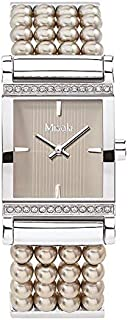 ميساكي ساعة رسمية لل نساء انالوج بعقارب لؤلؤي - QCRWPARISIENNEGOLD