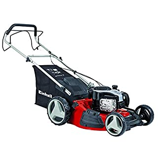 Einhell GC-PM 51/2 S – Cortacésped de gasolina (2220 Vatios, altura de corte 6 niveles | 30-80 mm , ancho de corte 51 cm, hasta 1800m² de jardín, 70L de capacidad de bolsa) (ref.3404340)