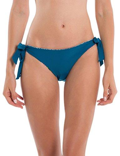Bench Damen Reversible TIE Bottom Bikinihose, Mehrfarbig (A0648-Crazy Small Stripe Repea P1202), 40 (Herstellergröße: L)
