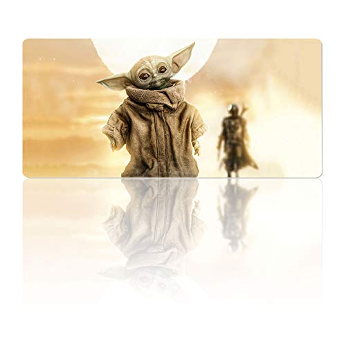 Star Wars Mouse Pad Large Baby-yoda,Mousepad with Stitched Edges & Non-Slip Rubber Base-3mm Thick-Laptop Desk Pads-Computer Keyboard and Mice Combo Pad Mat 11.8X23.6