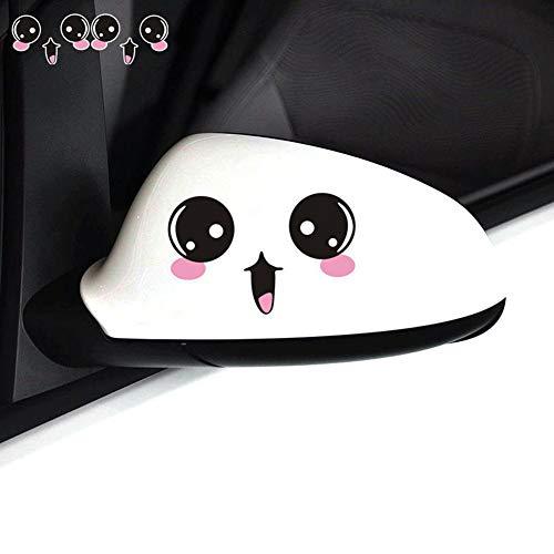 Auto-Seitenspiegel-Aufkleber, Smiley-Gesicht, 12 x 8 cm, 2 Stück Big Eyes