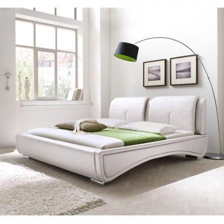 Meise Sydney Lit capitonné Blanc 160 x 200 cm