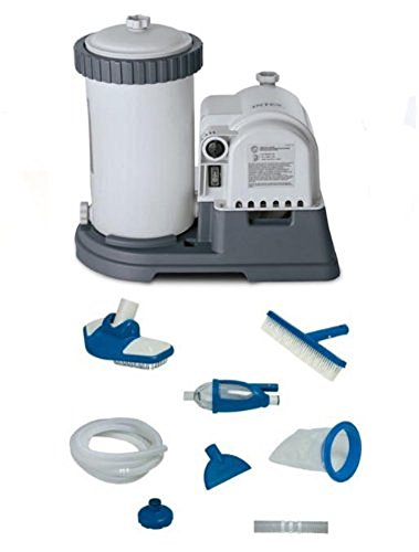 INTEX 2500 GPH GCFI Pool Filter Pump with Timer (633T) & Deluxe...