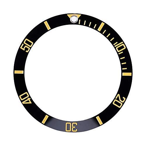 OhhGo Reloj de pulsera con bisel insertado, pieza de repuesto de anillo de cerámica (dorado)