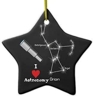 Mesllings Funny Christmas Ornaments I Love Astronomy Ceramic Ornament
