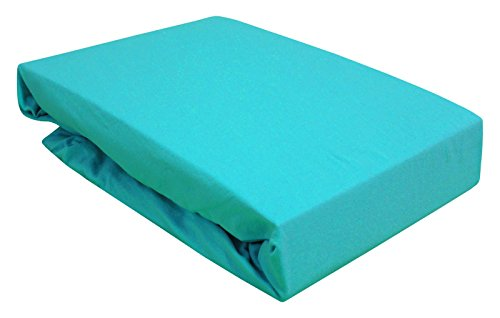 Drap housse pour lit à eau/Boxspring/différentes tailles dans de nombreuses couleurs 180–200 x 200–220 cm Türkis / Turquoise