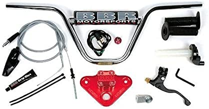 BBR Motorsports Handlebar Kit - With Tripleclamp - Red - Honda XR/CRF 50 2000-Up - by BBR Motorsports