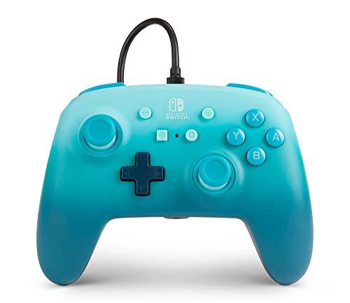 Mando Con Cable Mejorado Powera Para Nintendo Switch. Aquatic Fantasy, Azul, Mando, Mando Para Videojuegos Con Cable, Mando De Juego