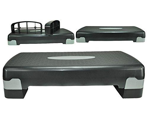 Senshi Japan Stepper Step aerobica-Palla ginnica, ideale per l'uso in palestra o uso domestico, consente un'ampia varietà di esercizi di aerobica e ginnastica, sollevamento pesi, altezza regolabile, 2 livelli, per Yoga-ginnastica-Piattaforma per esercizi di partenza