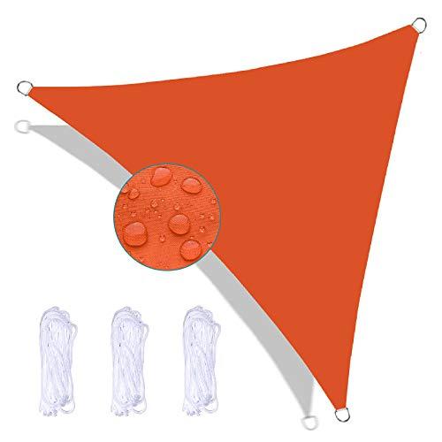 FFDL Toldo Vela 4X4X5.7M, Protección del Medio Ambiente Toldo Vela IKEA Impermeable Insípido Varios Tamaños Incluyendo Cuerda de Sujeción para Patio Trasero Naranja