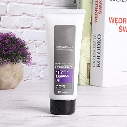 Gel hidratante para dar volumen al cabello, crema para el cabello rizado, tratamiento para el cabello para peluqueros de salón para cabellos rizados para mujeres(100ml)