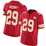 # 29 Kansas City Chiefs Berry Maillot de rugby pour homme, édition Fan Broderie American Football T-Shirt Sportswear (s-XXXL) -  Rouge - XX-Large