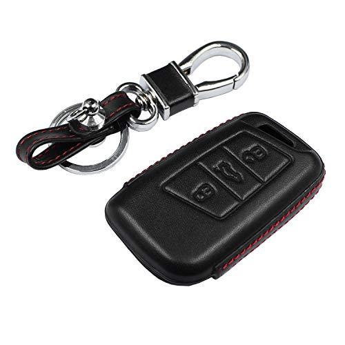 M.JVisun - Funda de piel auténtica para llave de coche Volkswagen B8 Variant Passat B8 con llavero,