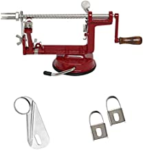 Johnny Apple Peeler with Suction Base VKP1010 + (1) Additional Coring & Slicing Blade VKP1010-2 + (2) Additional Peeling Knives VKP1010-1